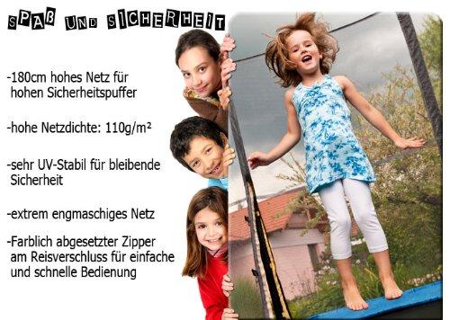 Terena® 300 - 305 cm Netz Ersatznetz Sicherheitsnetz Trampolinnetz für Trampolin mit 8 Stangen -