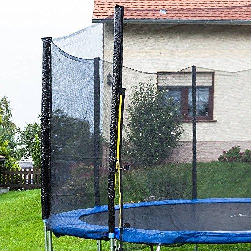 Trampolin Sicherheitsnetz Ersatznetz Schutznetz ohne Pfosten für Tampoline 3,70m für 6 Pfosten Netzhöhe 180cm -