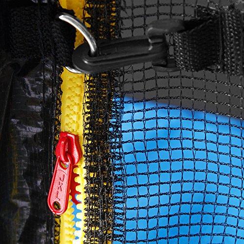 Netz für Trampolin Ø 305cm Sicherheitsnetz inkl. Karabinerhaken zur Befestigung -