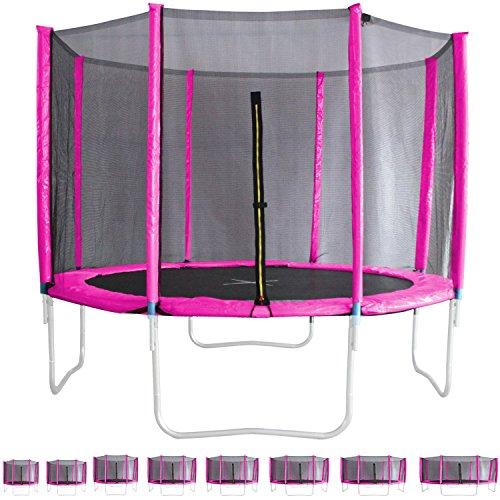 Miganeo® Ersatznetz Größen 183 bis 488cm, Frabe pink, für Trampolin Sicherheitsnetz (305cm)