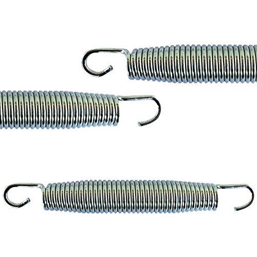 AWM Trampolin Federn 4 Größen (135, 165, 178, 185 mm) Sprungfedern Ersatzfedern (4x 178mm)