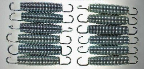 12x Hudora Ersatz Trampolin Federn ca. 138mm von ca. 240 244 305 366 bis 426cm ∅ Ersatzfeder