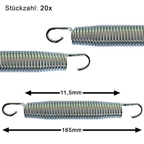 AWM / Trampolin Stahlfeder / 20 Stück