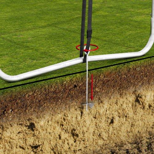 Original Ampel 24: 12-fach Trampolin Sicherungsset, Stumsicherung und Bodenverankerung -