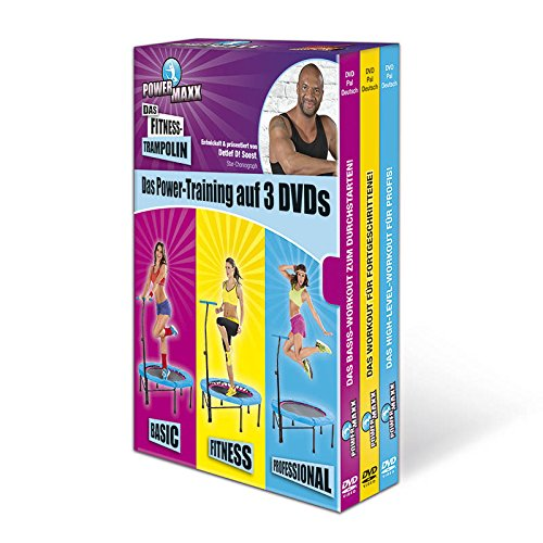 TV Unser Original POWER MAXX Trainings-DVDs für Fitness-Trampolin - 3er-DVD-Set