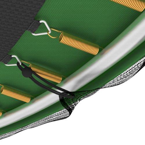 Original Ampel 24 XXL Gartentrampolin - 490 cm Durchmesser - verbesserte Version 2014 - grün -