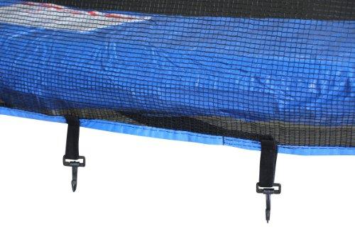 SixBros. SixJump 3,70 M Gartentrampolin Blau Intertek / GS geprüft Trampolin - Leiter - Sicherheitsnetz - Wetterplane - CST370/L1717 -