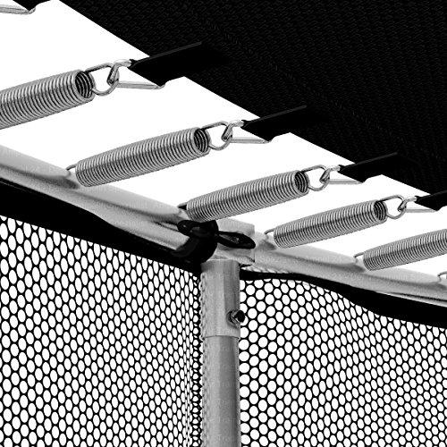 Ampel 24 Rahmennetz für Trampolin Ø 305 cm | zum Schutz von Kleinkindern und Haustieren | mit Schuhtaschen | schwarz -