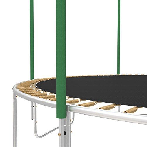 Ampel 24 Ersatz Schaumpolster für Trampolin Netzpfosten | Schaumstoffrollen grün | Stangenschutz einzeln -