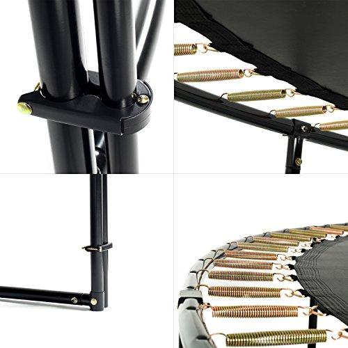 Ampel 24 Deluxe Outdoor Trampolin 430 cm mit innenliegendem Netz, Belastbarkeit 160 kg, Set mit Leiter, Windsicherung und 1 Paar Antirutsch-Socken extra - 4