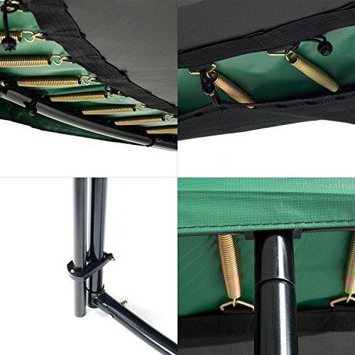 Ampel 24 Deluxe Outdoor Trampolin 430 cm komplett mit Außennetz, Belastbarkeit 160 kg, Sicherheitsnetz mit Stabilitätsring und 12 gepolsterten Stangen - 3