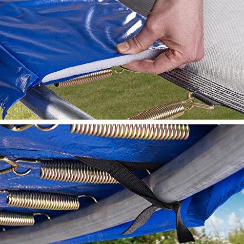 Kinetic Sports Outdoor Gartentrampolin Ø 310 cm, TPLH10, Komplettset inklusive Sprungtuch aus USA PP-Mesh +Sicherheitsnetz +Randabdeckung, bis 150kg, GS-geprüft, UV-beständig, BLAU - 3