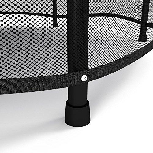 Kinetic Sports Trampolin Kinder Indoortrampolin Jumper 140 cm Randabdeckung Stangen gepolstert, Gummiseil-Federung Sicherheitsnetz Pink - 4