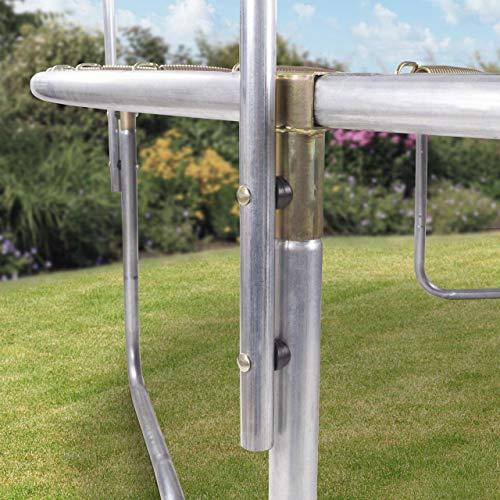 Kinetic Sports Outdoor Gartentrampolin Ø 250 cm, TPLH08, Komplettset inklusive Sprungtuch aus USA PP-Mesh +Sicherheitsnetz +Randabdeckung, bis 120kg, GS-geprüft, UV-beständig, SCHWARZ - 2