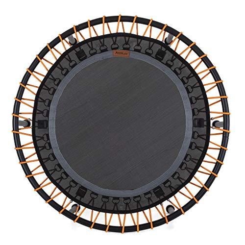 Ampel 24 Minitrampolin Ø 110 cm, Indoor Fitness Trampolin mit Bungee-Seil-System, 6 verstellbare Elastobänder für den Härtegrad, belastbar bis 150 kg - 2