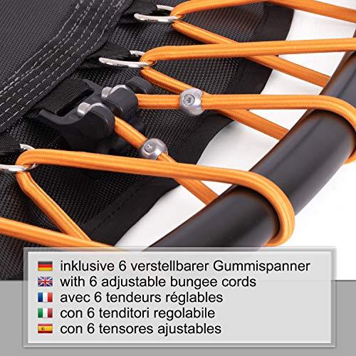 Ampel 24 Minitrampolin Ø 110 cm, Indoor Fitness Trampolin mit Bungee-Seil-System, 6 verstellbare Elastobänder für den Härtegrad, belastbar bis 150 kg - 5