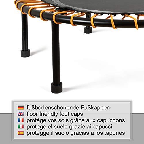 Ampel 24 Minitrampolin Ø 110 cm, Indoor Fitness Trampolin mit Bungee-Seil-System, 6 verstellbare Elastobänder für den Härtegrad, belastbar bis 150 kg - 8