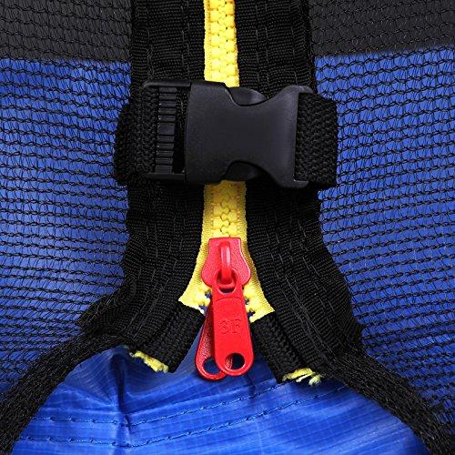 SONGMICS Trampolin Ø 305 cm, rundes Gartentrampolin mit Sicherheitsnetz, mit Leiter und gepolsterten Stangen, Sicherheitsabdeckung, TÜV Rheinland getestet, sicher, Outdoor, schwarz, blau STR10FT - 9
