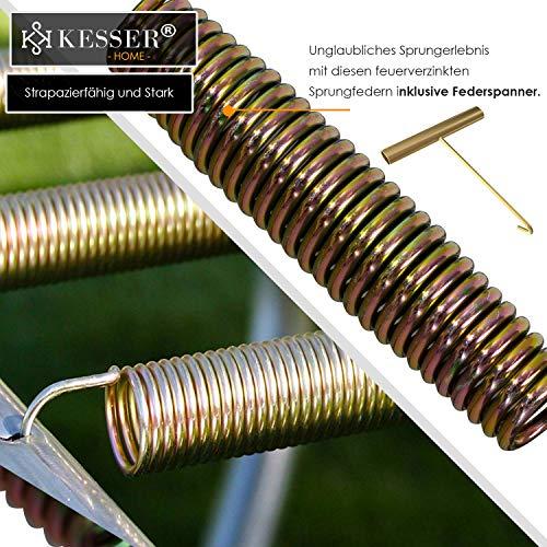 Kesser® - Trampolin Ø 305 cm | TÜV SÜD GS Zertifiziert | Komplettset mit Sicherheitsnetz, Leiter, Randabdeckung & Zubehör | Kindertrampolin Gartentrampolin Belastbarkeit 150 kg - 3