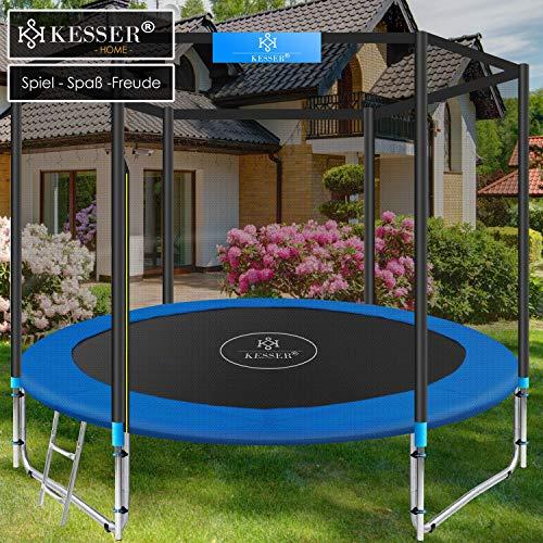 Kesser® - Trampolin Ø 305 cm | TÜV SÜD GS Zertifiziert | Komplettset mit Sicherheitsnetz, Leiter, Randabdeckung & Zubehör | Kindertrampolin Gartentrampolin Belastbarkeit 150 kg - 5