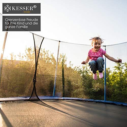 Kesser® - Trampolin Ø 305 cm | TÜV SÜD GS Zertifiziert | Komplettset mit Sicherheitsnetz, Leiter, Randabdeckung & Zubehör | Kindertrampolin Gartentrampolin Belastbarkeit 150 kg - 7