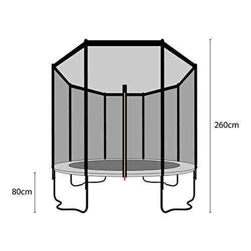 Ultrasport Outdoor Gartentrampolin Jumper, Trampolin Komplettset inklusive Sprungmatte, Sicherheitsnetz, gepolsterten Netzpfosten und Randabdeckung, bis zu 150 kg, grün, Ø 366 cm - 3