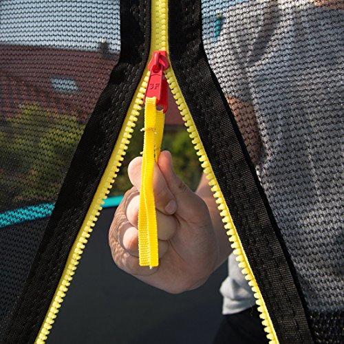 Ultrasport Outdoor Gartentrampolin Jumper, Trampolin Komplettset inklusive Sprungmatte, Sicherheitsnetz, gepolsterten Netzpfosten und Randabdeckung, bis zu 150 kg, grün, Ø 366 cm - 5