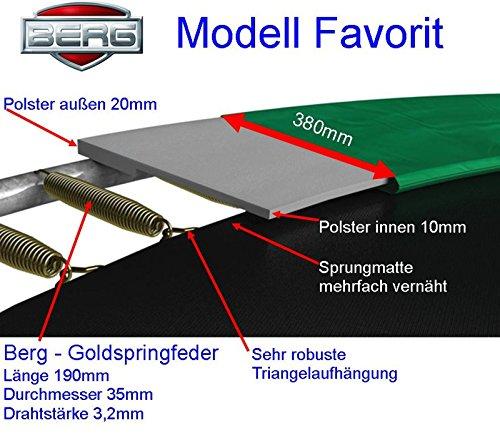 Berg Schutzrand 3,80 m Favorit Randabdeckung Federabdeckung Umrandung Trampolin Ersatzteil - 3