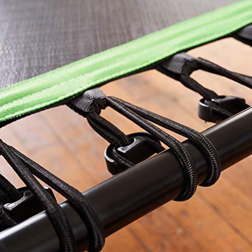 SportPlus Fitness-Trampolin, TÜV-Geprüft, Ø 126cm, leise Gummiseilfederung, 5-fach höhenverstellbarer Haltegriff, inkl. Randabdeckung, Nutzergewicht bis 130kg, Trampolin für Jumping Fitness - 7