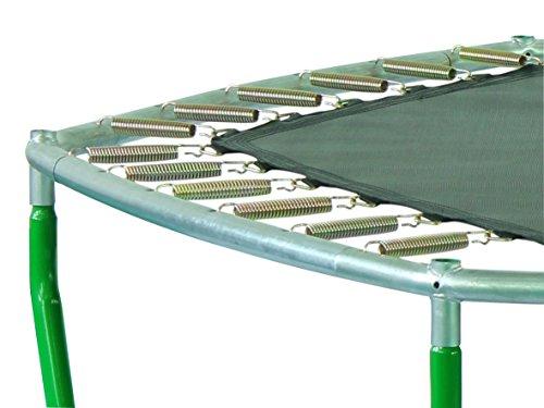 SixBros. SixJump Gartentrampolin für Kinder, Outdoor-Trampolin für den Garten, Kindertrampolin inkl. Sicherheitsnetz & Stangenschutz, robust & wasserdicht, grün TG210/2026 - 3