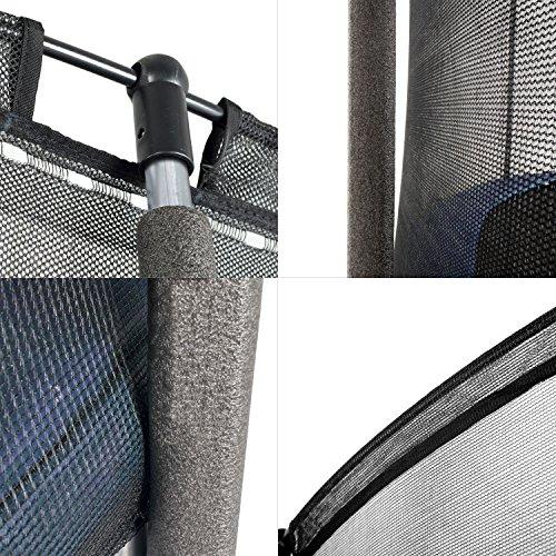Ampel 24 Outdoor Trampolin 430 cm blau komplett mit außenliegendem Netz, Stabilitätsring, 10 gepolsterten Stangen, Belastbarkeit 160 kg - 7
