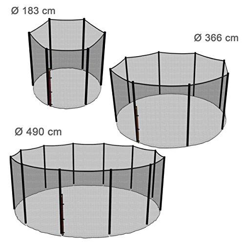 Ampel 24 Ersatz Sicherheitsnetz für Trampolin Ø 305 cm, Gartentrampolin Ersatznetz für 8 Stangen, Netz außenliegend, Ersatzteil reißfest, UV-beständig - 3