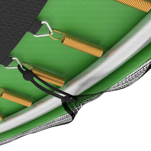 Ampel 24 Ersatz Sicherheitsnetz für Trampolin Ø 305 cm, Gartentrampolin Ersatznetz für 8 Stangen, Netz außenliegend, Ersatzteil reißfest, UV-beständig - 5