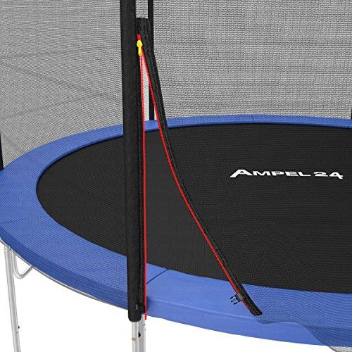 Ampel 24 Ersatz Sicherheitsnetz für Trampolin Ø 305 cm, Gartentrampolin Ersatznetz für 8 Stangen, Netz außenliegend, Ersatzteil reißfest, UV-beständig - 6