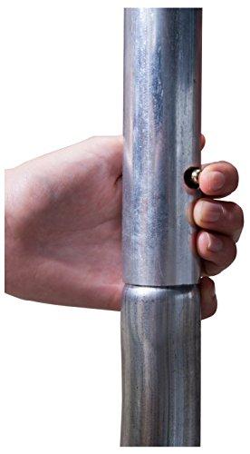 HUDORA 65745/00 Fantastic Trampolin 250 | Geräumiges & sicheres Gartentrampolin mit breiter, Dicker Randabdeckung - 5