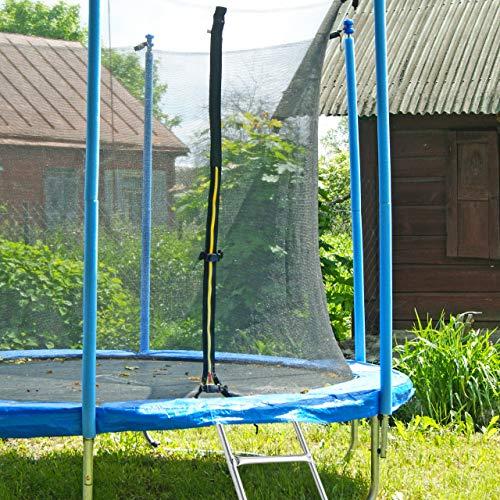 Relaxdays Leiter Trampolin, zum Einhängen, 2 Sprossen, Einstiegsleiter für Gartentrampolin, H x B: 76 x 38 cm, silber - 7