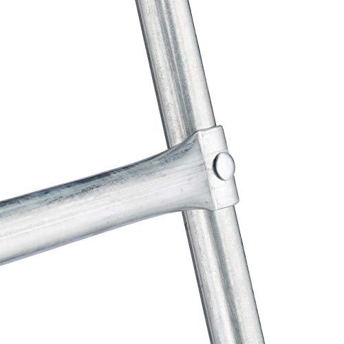 Relaxdays Leiter Trampolin, zum Einhängen, 2 Sprossen, Einstiegsleiter für Gartentrampolin, H x B: 76 x 38 cm, silber - 8