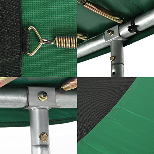 Ampel 24 Outdoor Trampolin 366 cm grün komplett mit außenliegendem Netz, Stabilitätsring, 8 gepolsterten Stangen, Belastbarkeit 160 kg - 3