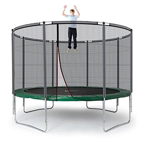 Ampel 24 Outdoor Trampolin 366 cm grün komplett mit außenliegendem Netz, Stabilitätsring, 8 gepolsterten Stangen, Belastbarkeit 160 kg - 9