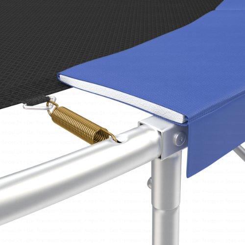 Ampel 24 Trampolin Randabdeckung, passend für Trampolin Ø 305 cm, Federabdeckung reißfest und beständig, Schutzrand blau - 5