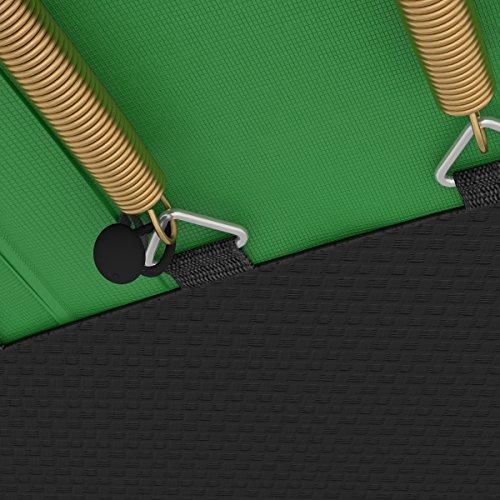 Ampel 24 Trampolin Randabdeckung Deluxe passend für Ø 300 bis 305 cm bei Innennetz, Dicker Schutzrand reißfest und beständig, Federabdeckung grün - 2