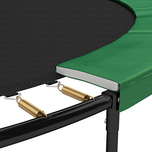 Ampel 24 Trampolin Randabdeckung Deluxe passend für Ø 366 cm bei Außennetz, Dicker Schutzrand reißfest und beständig, Federabdeckung grün - 6
