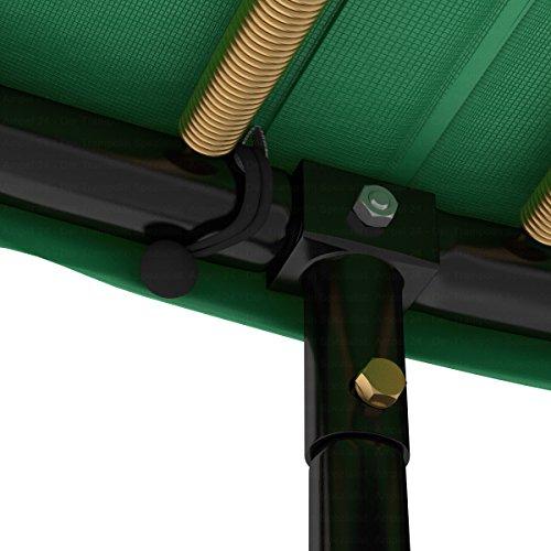 Ampel 24 Trampolin Randabdeckung Deluxe passend für Ø 366 cm bei Außennetz, Dicker Schutzrand reißfest und beständig, Federabdeckung grün - 8