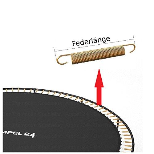 Ampel 24 Trampolin Sprungtuch 262 cm mit 64 Befestigungsösen 10-Fach vernäht, Sprungtuch für Gartentrampolin Ø 305 cm - 3