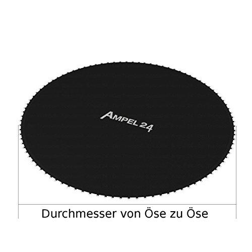 Ampel 24 Trampolin Sprungtuch 262 cm mit 64 Befestigungsösen 10-Fach vernäht, Sprungtuch für Gartentrampolin Ø 305 cm - 9