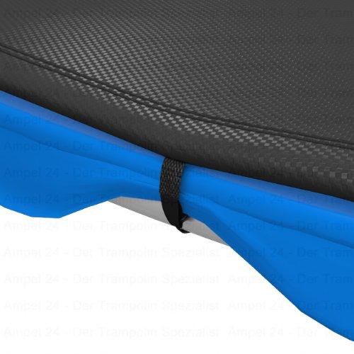 Ampel 24 Outdoor Trampolin Abdeckung 490 cm, Wetterschutzplane für Gartentrampolin mit Regenablauf, Abdeckplane schwarz, UV-beständig - 3
