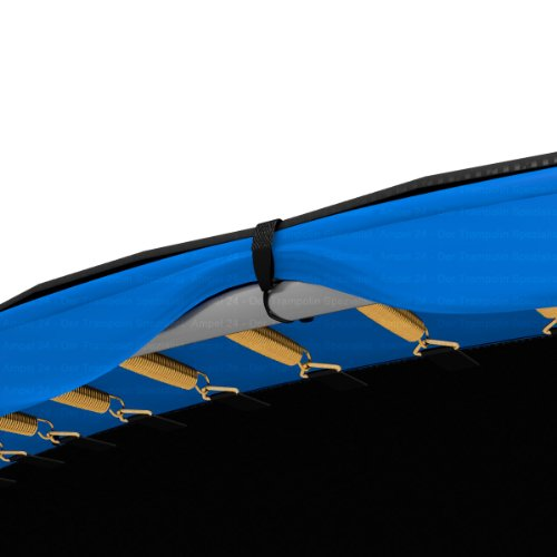 Ampel 24 Outdoor Trampolin Abdeckung 490 cm, Wetterschutzplane für Gartentrampolin mit Regenablauf, Abdeckplane schwarz, UV-beständig - 7