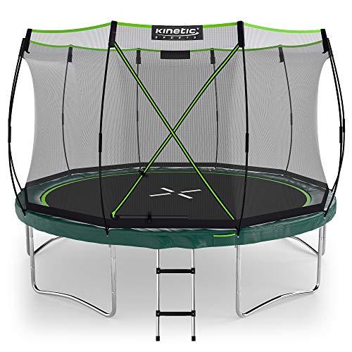 Kinetic Sports Ø 366 cm Gartentrampolin TBSE1200 / grün