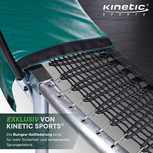Kinetic Sports Gartentrampolin TBSE1200, 366 cm, grün - 3