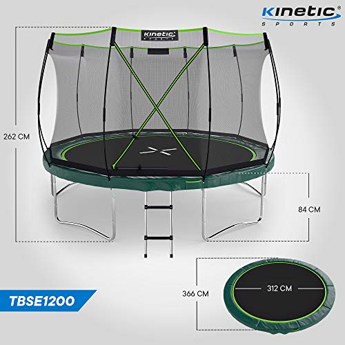 Kinetic Sports Gartentrampolin TBSE1200, 366 cm, grün - 7